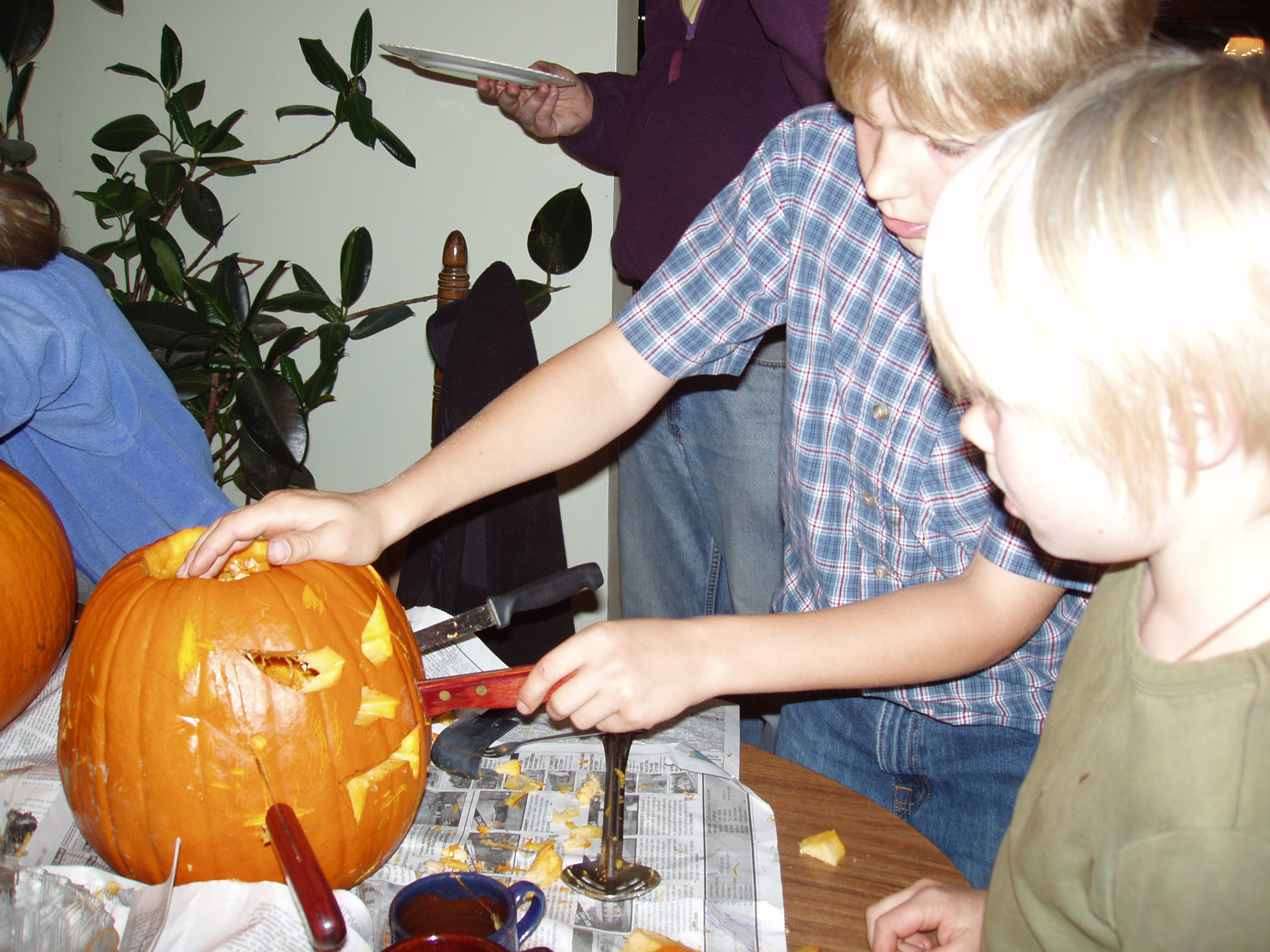 Pumpkin Carving at Sally's